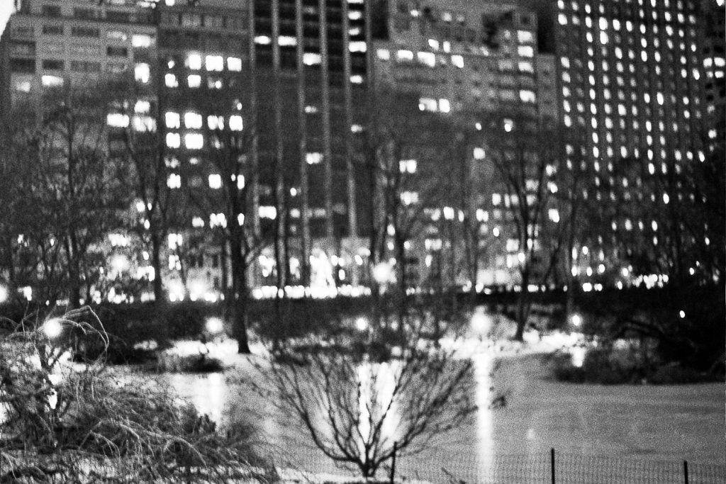 film bw photo of nyc at night by wendy g photography