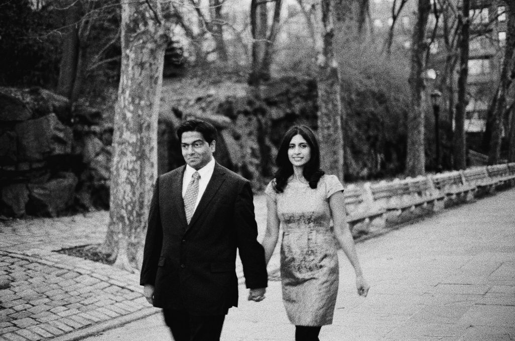 Black and White carl schurz engagement portrait by wendy g photography
