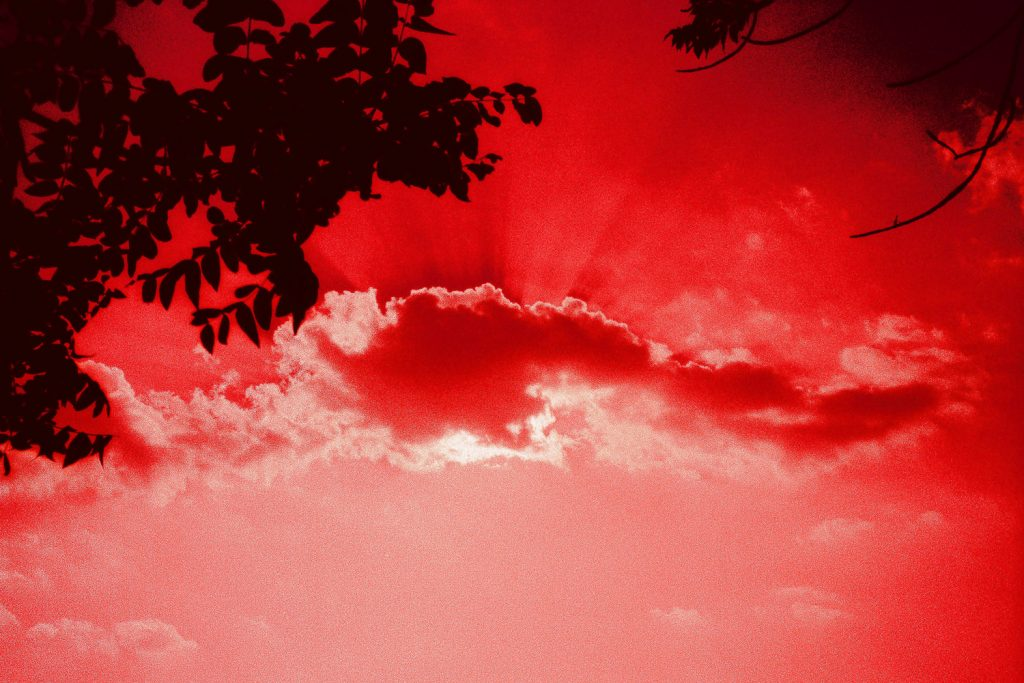 summer sky on red cross processed fuji film by wendy g photography