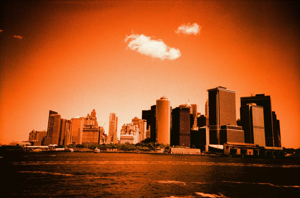 lower manhattan on cross processed fuji film by wendy g photography