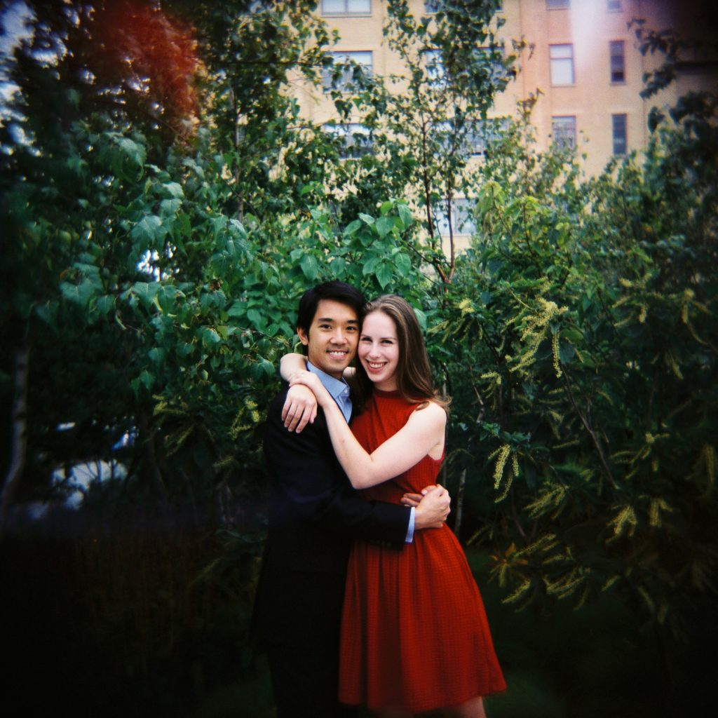 high line engagement couple by wendy g photography