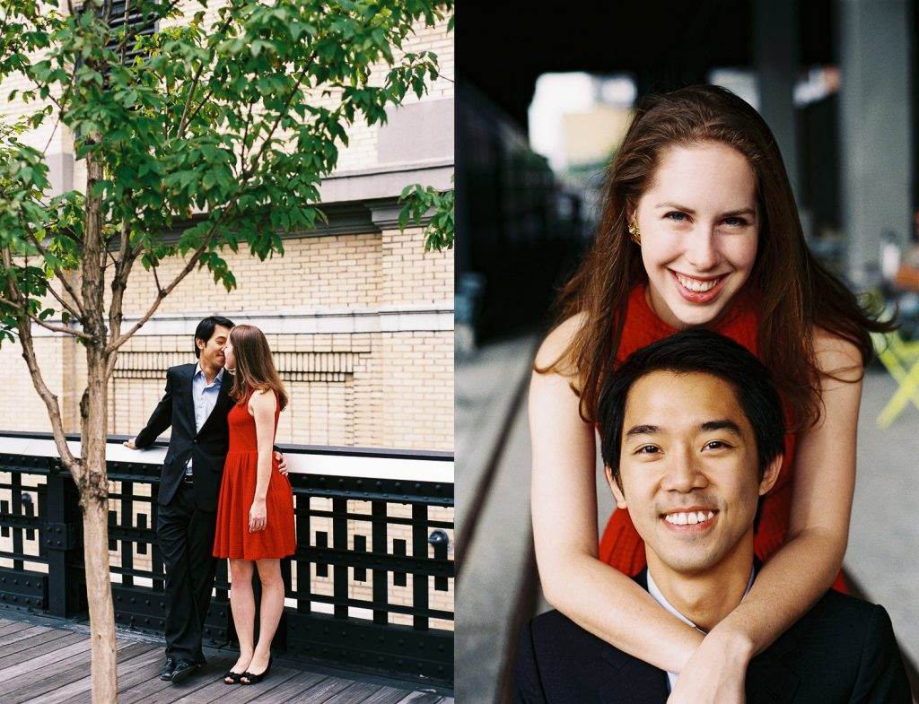 high line engagement session by wendy g photography