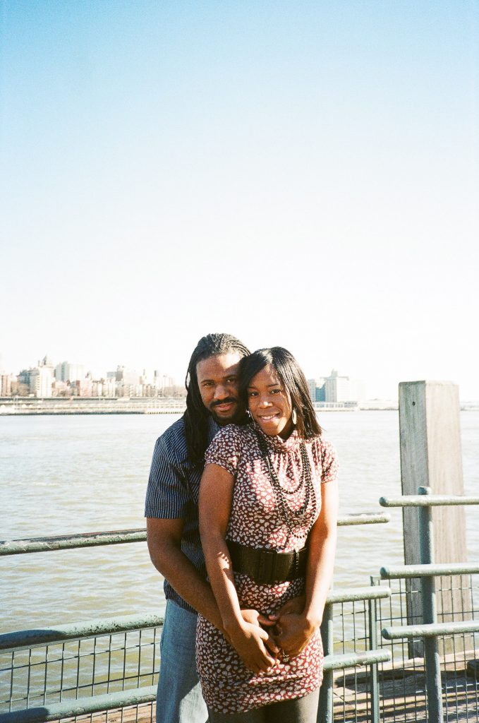 south street seaport engagement couple hugging by wendy g photography