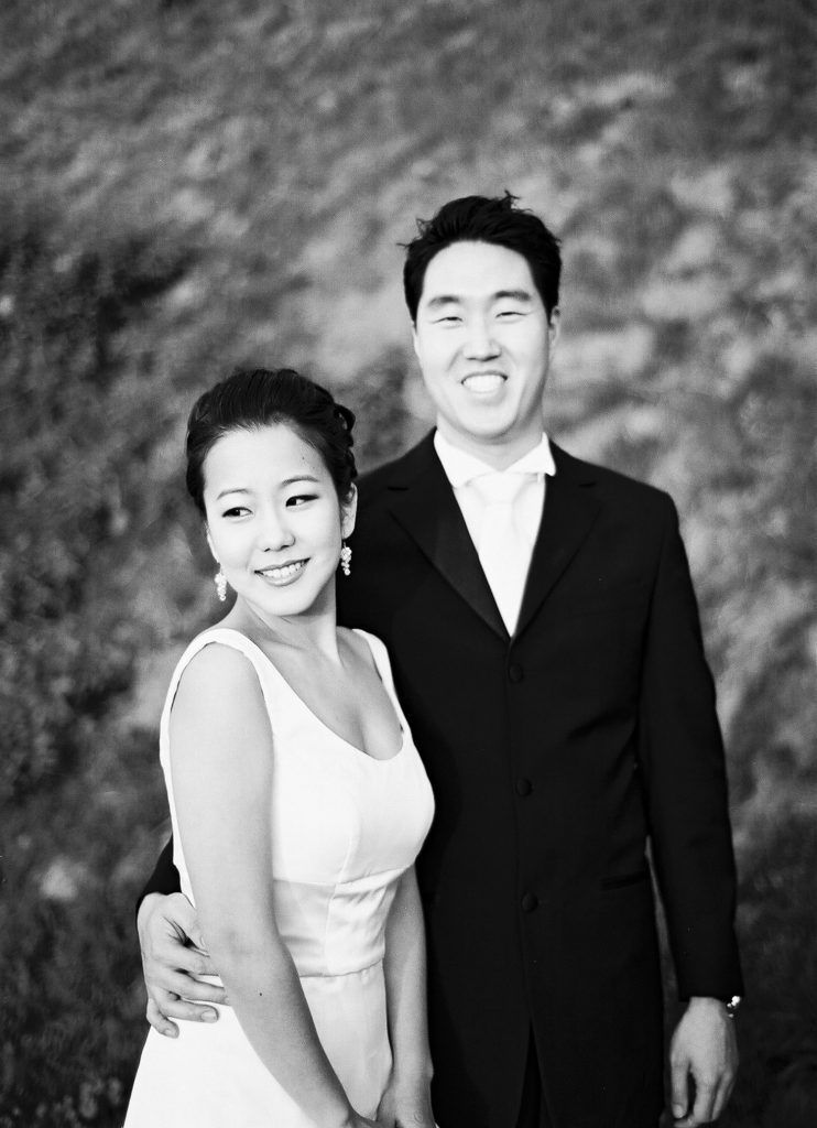 black and white los angeles engagement photos by wendy g photography