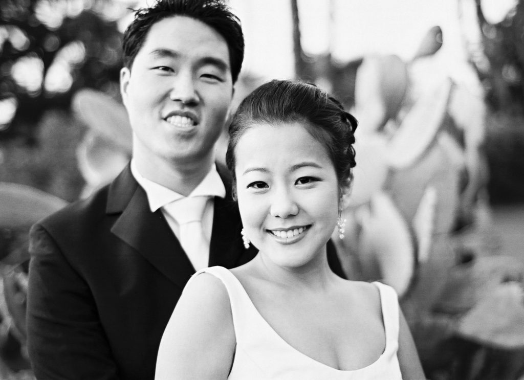 black and white los angeles engagement session by wendy g photography