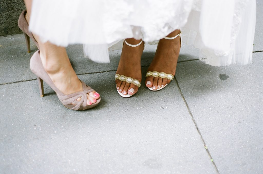 small wedding bridal shoes central park wendy g photography
