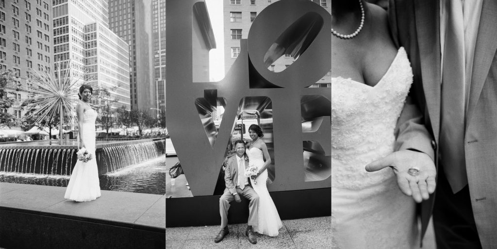 bw small wedding central park wendy g photography