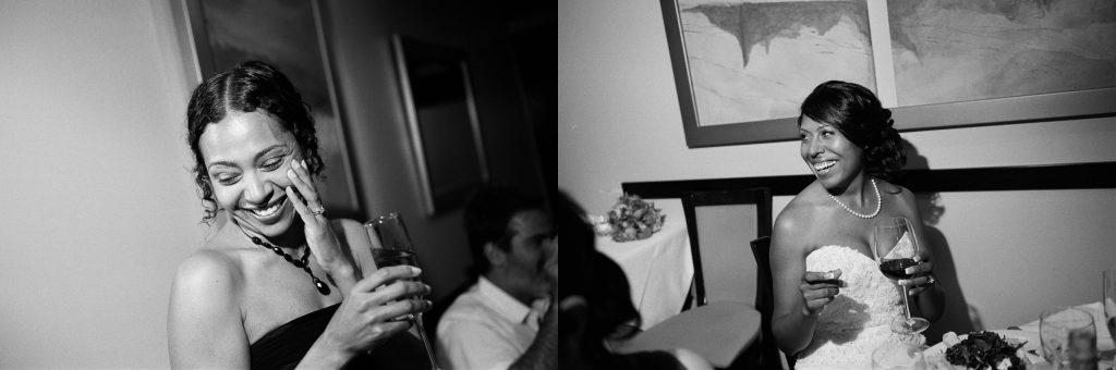 bw small wedding restaurant reception wendy g photography