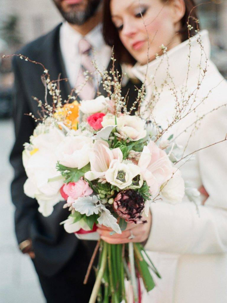 dumbo brooklyn elopement wedding bouquet photography by wendy g