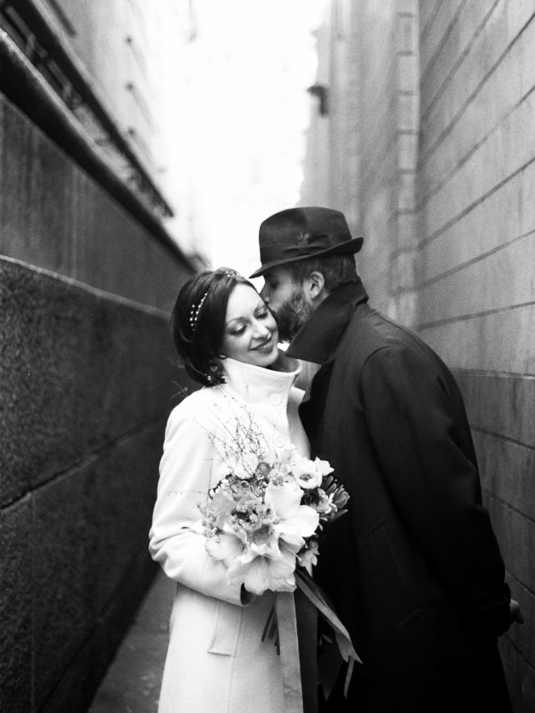 dumbo brooklyn elopement small wedding photography by wendy g