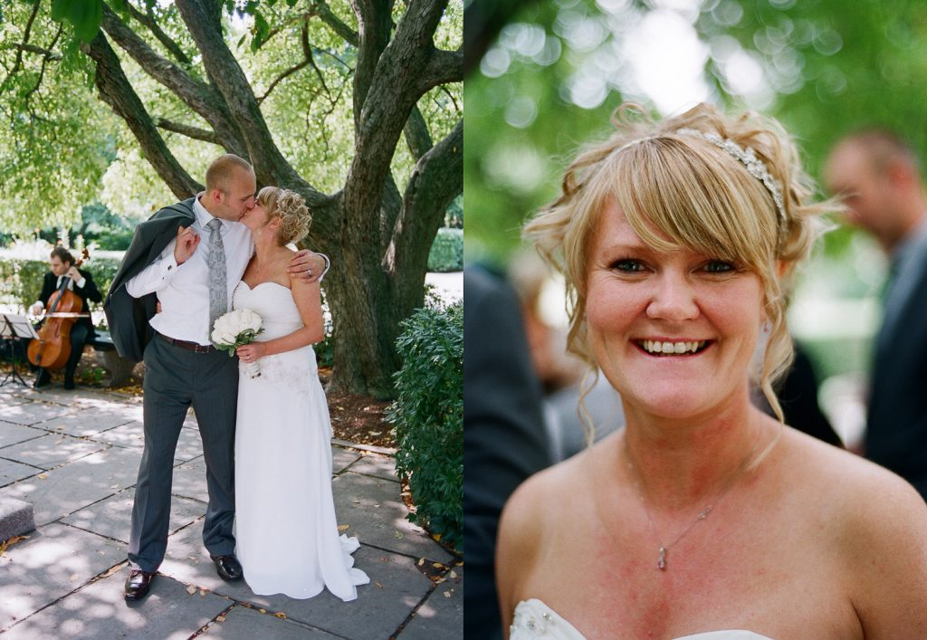 nyc conservatory garden wedding photo of bride by wendy g photography