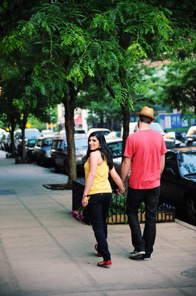 lower east side manhattan engagement photo by wendy g photography