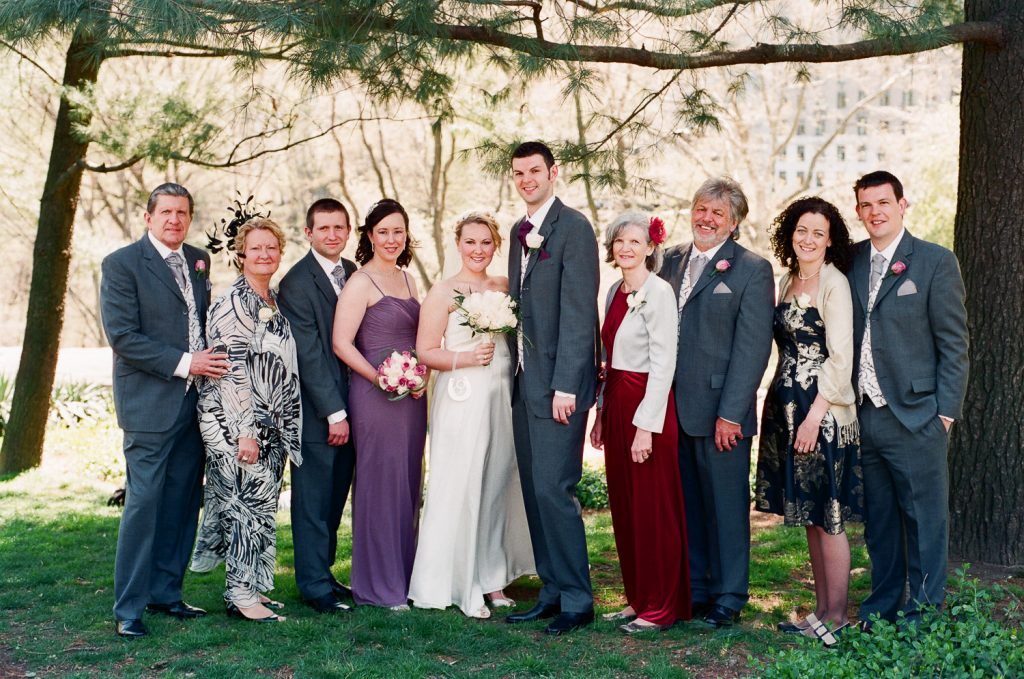 cop cot central park wedding party photo by wendy g photography