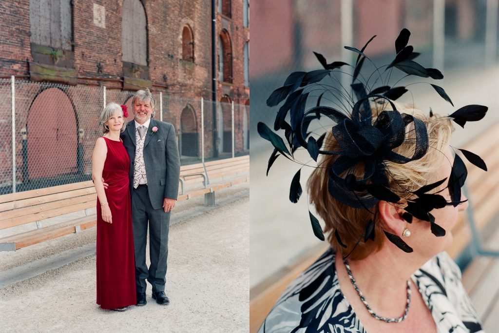 wedding party photos in DUMBO by wendy g photography
