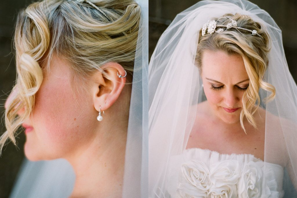bridal portrait for wedding  in dumbo by wendy g photography