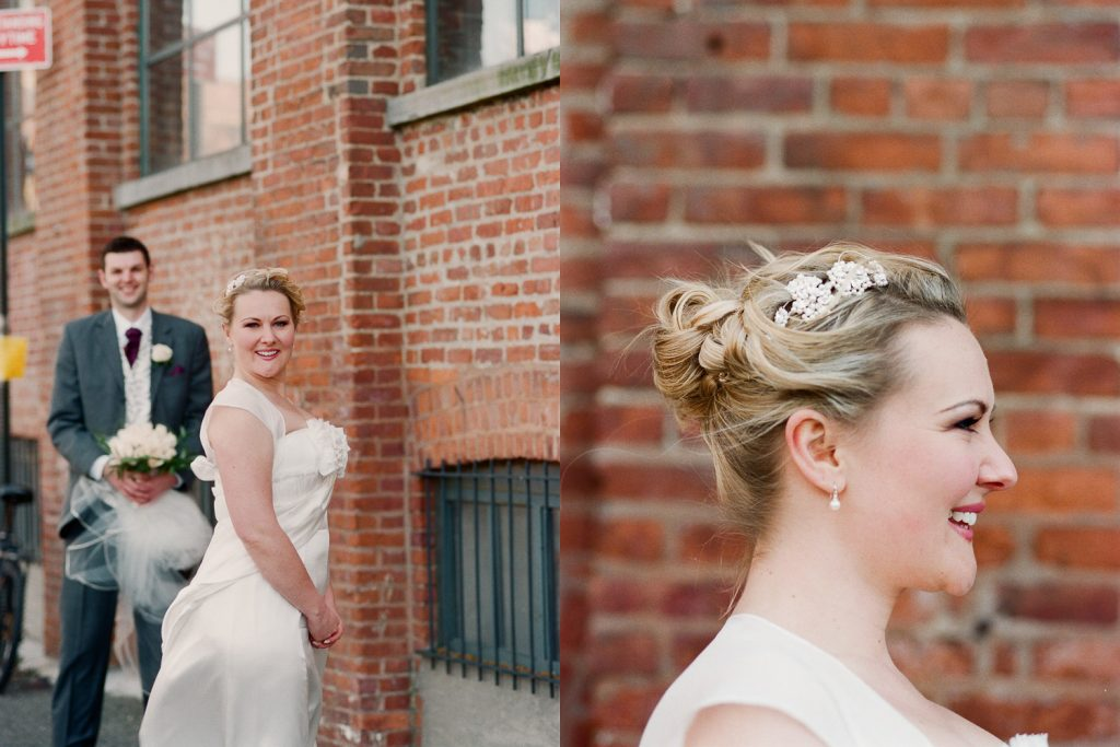 fun wedding couple photos in DUMBO by wendy g photography