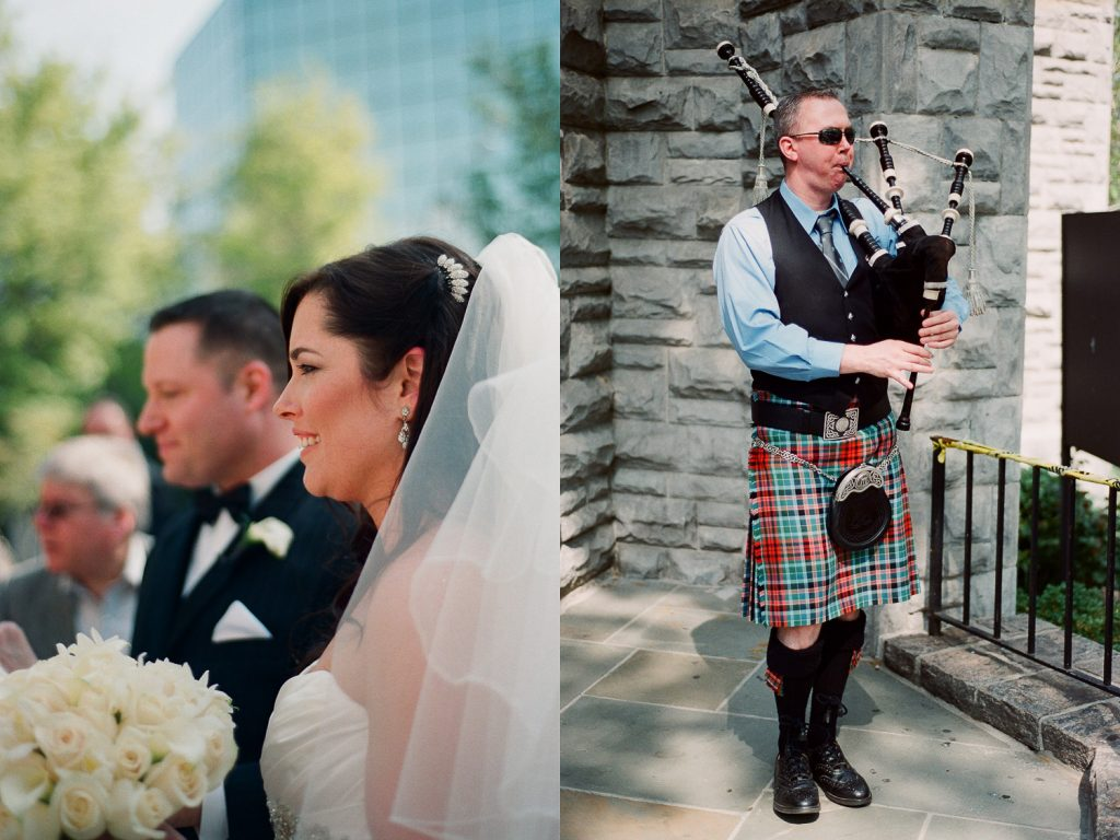 bagpipes at wedding in westchester wedding photographer wendy g photography