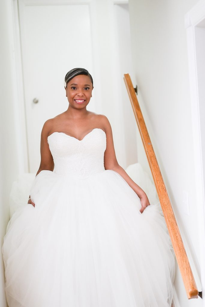 antique loft wedding bride in dress by wendy g photography
