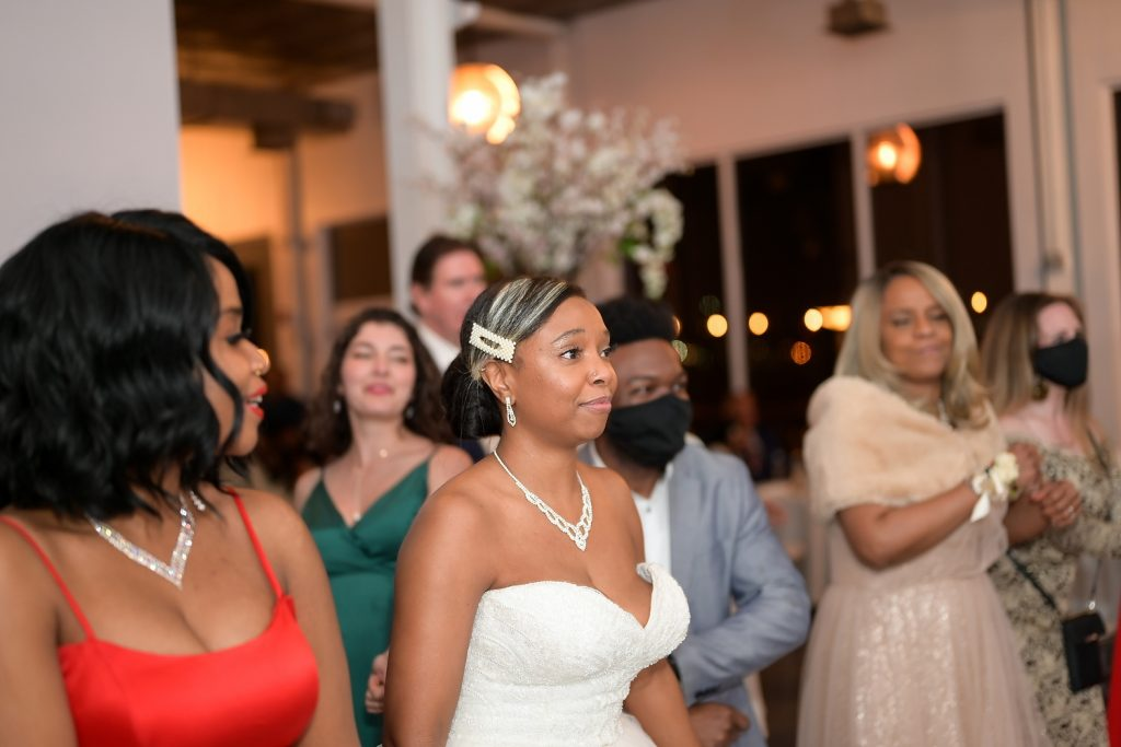 NJ loft wedding bride dancing by wendy g photography