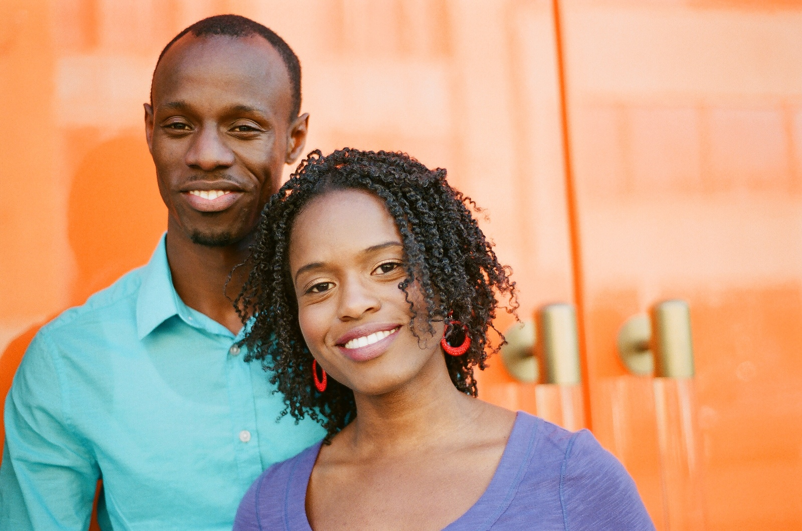 black african american Caribbean engaged couple nyc