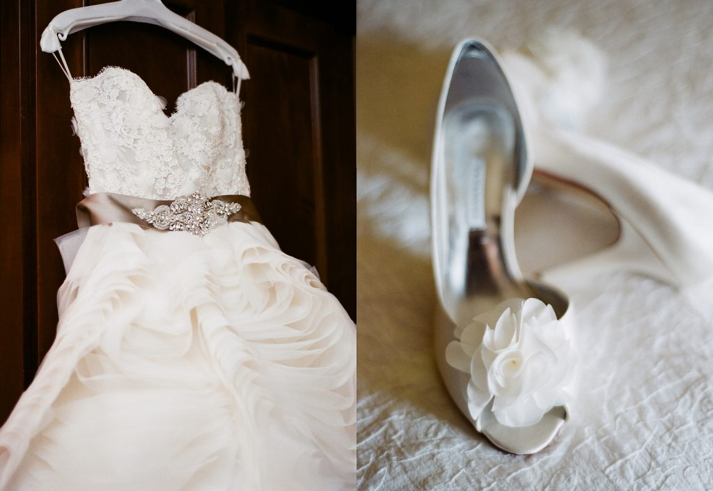 south jersey wedding photo of dress and shoes