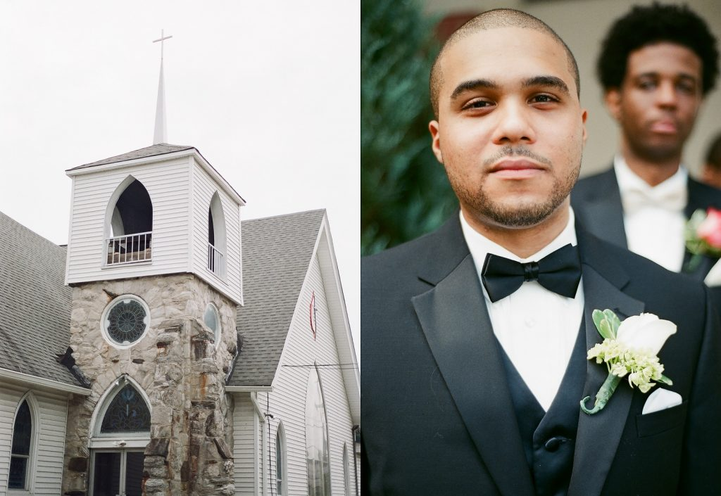 groom at south jersey wedding
