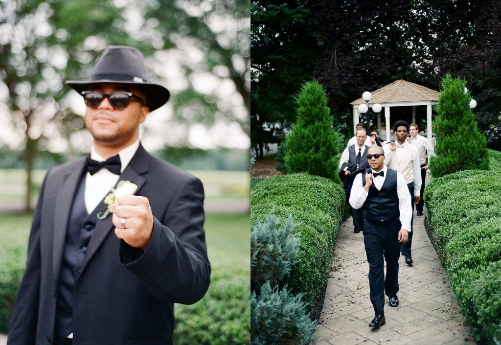 groom and groomsmen in south jersey