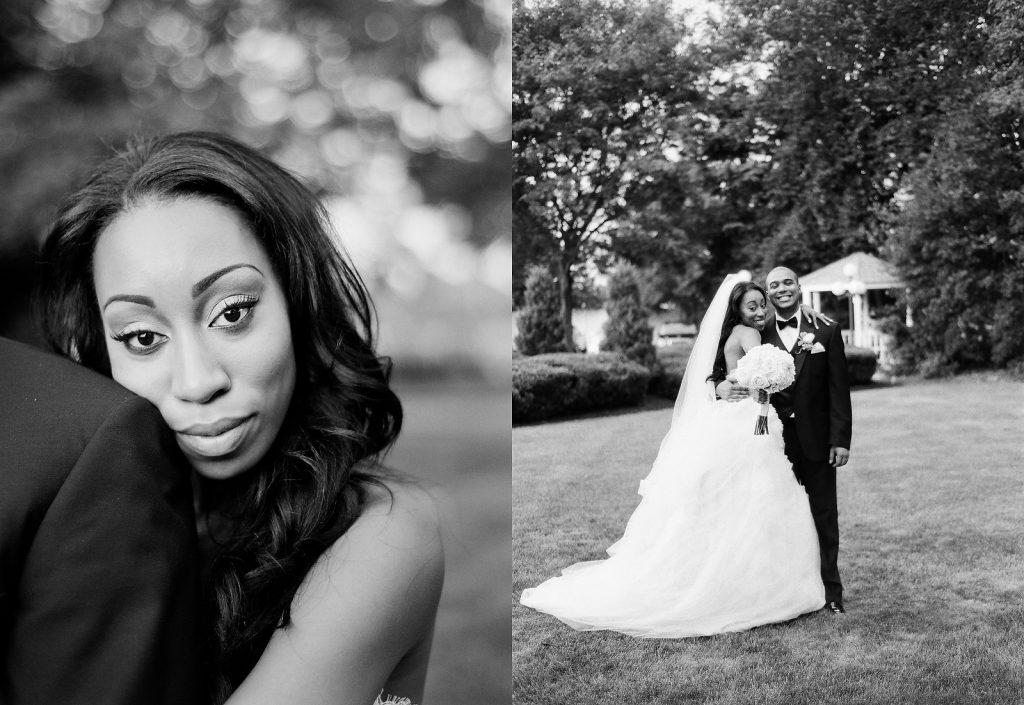 black and white portraits wedding couple south jersey